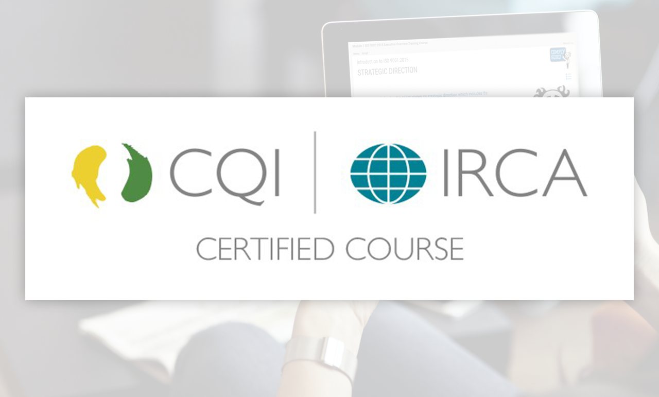 Online ISO 9001:2015 Foundation Course | CQI, IRCA & Exemplar Global Certified